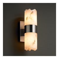 Justice Design LumenAria Dakota 2-Up & Downlight Wall Sconce in Brushed Nickel FAL-8762-10-NCKL