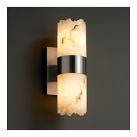 Justice Design FAL-8762-12-NCKL LumenAria 2 Light 5 inch Brushed Nickel Wall Sconce Wall Light in Cylinder with Broken Rim photo thumbnail