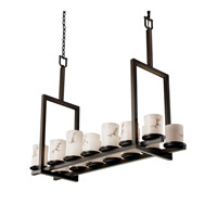 Justice Design LumenAria Dakota 14-Light Bridge Chandelier (Tall) in Dark Bronze FAL-8764-10-DBRZ