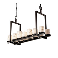 LumenAria 14 Light 13 inch Dark Bronze Chandelier Ceiling Light in Cylinder with Flat Rim