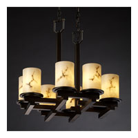 Justice Design LumenAria Dakota 8-Light Zig-Zag Chandelier in Dark Bronze FAL-8770-10-DBRZ