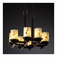 Justice Design LumenAria Dakota 8-Light Zig-Zag Chandelier in Dark Bronze FAL-8770-12-DBRZ