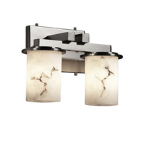Justice Design LumenAria Dakota 2-Light Straight-Bar Bath Bar in Brushed Nickel FAL-8772-10-NCKL