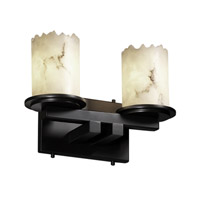 Justice Design LumenAria Dakota 2-Light Straight-Bar Bath Bar in Matte Black FAL-8772-12-MBLK