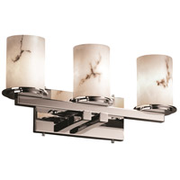 LumenAria 3 Light 21 inch Polished Chrome Bath Bar Wall Light in Cylinder with Flat Rim