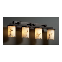 LumenAria 4 Light 29 inch Dark Bronze Bath Bar Wall Light in Cylinder with Broken Rim