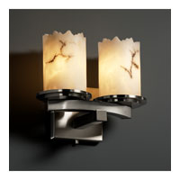LumenAria 2 Light 11 inch Brushed Nickel Wall Sconce Wall Light in Cylinder with Broken Rim
