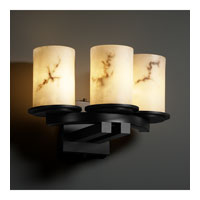 Justice Design FAL-8776-10-MBLK LumenAria 3 Light 14 inch Matte Black Wall Sconce Wall Light in Cylinder with Flat Rim photo thumbnail