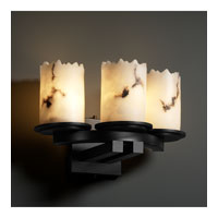 Justice Design LumenAria Dakota 3-Light Curved-Bar Wall Sconce in Matte Black FAL-8776-12-MBLK