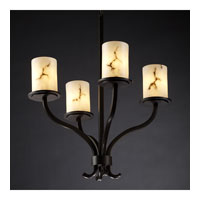 Justice Design LumenAria Sonoma 4-Light Chandelier in Dark Bronze FAL-8780-10-DBRZ