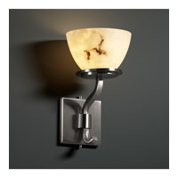 Justice Design LumenAria Sonoma 1-Light Wall Sconce (Short) in Brushed Nickel FAL-8781-35-NCKL