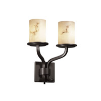 Justice Design LumenAria Sonoma 2-Light Wall Sconce (Short) in Dark Bronze FAL-8782-10-DBRZ