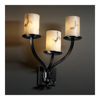Justice Design LumenAria Sonoma 3-Light Wall Sconce in Matte Black FAL-8783-10-MBLK