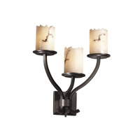 Justice Design LumenAria Sonoma 3-Light Wall Sconce in Dark Bronze FAL-8783-12-DBRZ