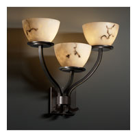 Justice Design LumenAria Sonoma 3-Light Wall Sconce in Dark Bronze FAL-8783-35-DBRZ