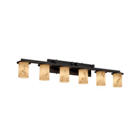 Justice Design FAL-8786-10-MBLK-LED6-4200 LumenAria LED 45 inch Matte Black Bath Bar Wall Light in 4200 Lm LED, Cylinder with Flat Rim