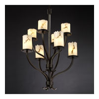 Justice Design LumenAria Sonoma 8-Light 2-Tier Chandelier in Dark Bronze FAL-8788-12-DBRZ