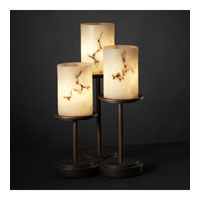 Justice Design LumenAria Dakota 3-Light Table Lamp in Dark Bronze FAL-8797-10-DBRZ
