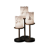 Justice Design LumenAria Dakota 3-Light Table Lamp in Dark Bronze FAL-8797-12-DBRZ