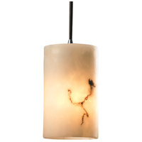 LumenAria 1 Light 4 inch Polished Chrome Pendant Ceiling Light in Cord, Cylinder with Flat Rim