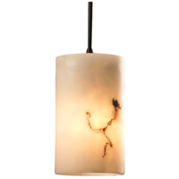 LumenAria 1 Light 4 inch Dark Bronze Pendant Ceiling Light in Cord, Cylinder with Flat Rim
