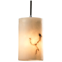 LumenAria 1 Light 4 inch Brushed Nickel Pendant Ceiling Light in Cord, Cylinder with Flat Rim