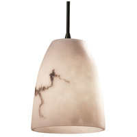 LumenAria 1 Light 5 inch Matte Black Pendant Ceiling Light in Cord, Tapered Cylinder