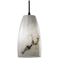 LumenAria 1 Light 5 inch Matte Black Pendant Ceiling Light in Cord, Tall Tapered Cylinder