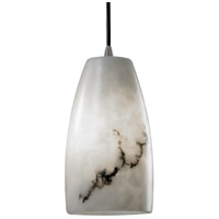 LumenAria 1 Light 5 inch Brushed Nickel Pendant Ceiling Light in Cord, Tall Tapered Cylinder