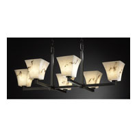 Justice Design LumenAria Modular 6-Uplight Crossbar Chandelier in Dark Bronze FAL-8826-40-DBRZ