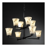 Justice Design LumenAria Modular 8-Light 2-Tier Chandelier in Matte Black FAL-8828-20-MBLK