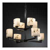 Justice Design LumenAria Modular 8-Light 2-Tier Chandelier in Dark Bronze FAL-8828-30-DBRZ