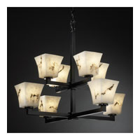 Justice Design LumenAria Modular 8-Light 2-Tier Chandelier in Matte Black FAL-8828-40-MBLK