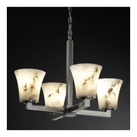 Justice Design LumenAria Modular 4-Light Chandelier in Brushed Nickel FAL-8829-20-NCKL
