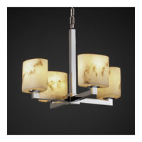 Justice Design LumenAria Modular 4-Light Chandelier in Polished Chrome FAL-8829-30-CROM