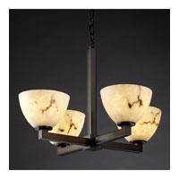 Justice Design LumenAria Modular 4-Light Chandelier in Dark Bronze FAL-8829-35-DBRZ