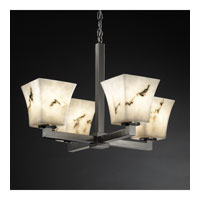 Justice Design LumenAria Modular 4-Light Chandelier in Brushed Nickel FAL-8829-40-NCKL