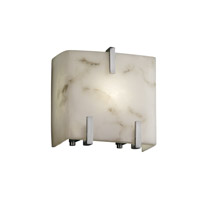 Justice Design LumenAria 1 Light Wall Sconce in Brushed Nickel FAL-8871-NCKL