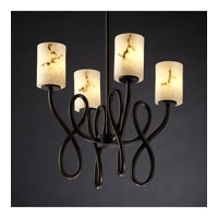 Justice Design LumenAria Capellini 4-Light Chandelier in Dark Bronze FAL-8910-10-DBRZ