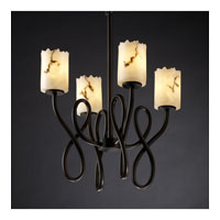 Justice Design LumenAria Capellini 4-Light Chandelier in Dark Bronze FAL-8910-12-DBRZ