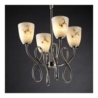 Justice Design LumenAria Capellini 4-Light Chandelier in Brushed Nickel FAL-8910-18-NCKL