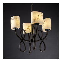 Justice Design LumenAria Capellini 4-Light Chandelier in Dark Bronze FAL-8910-30-DBRZ