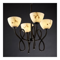 Justice Design LumenAria Capellini 4-Light Chandelier in Dark Bronze FAL-8910-35-DBRZ
