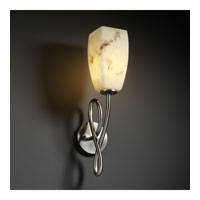 LumenAria 1 Light 5 inch Brushed Nickel Wall Sconce Wall Light in Tall Tapered Square, Incandescent