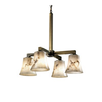 Justice Design LumenAria Modular 4-Downlight Chandelier in Antique Brass FAL-8920-20-ABRS