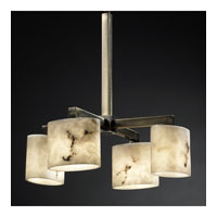 Justice Design LumenAria Modular 4-Downlight Chandelier in Antique Brass FAL-8920-30-ABRS