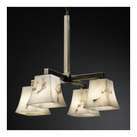Justice Design LumenAria Modular 4-Downlight Chandelier in Antique Brass FAL-8920-40-ABRS