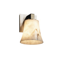 Justice Design FAL-8921-20-NCKL LumenAria 1 Light 6 inch Brushed Nickel Wall Sconce Wall Light in Round Flared photo thumbnail