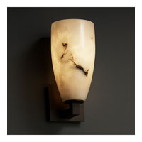 LumenAria 1 Light 5 inch Dark Bronze Wall Sconce Wall Light in Tall Tapered Cylinder