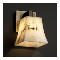 LumenAria 1 Light 6 inch Antique Brass Wall Sconce Wall Light in Square Flared
